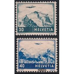 1948 Switzerland Sc C43/C44 Types of 1941. Tinted Granite Paper  **MNH Very Nice, Mint Never Hinged?  (Scott)