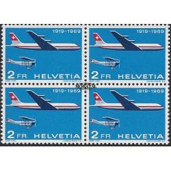 1969 Switzerland Sc 499 50th anniv. of Swiss airmail service  **MNH Very Nice, Mint Never Hinged?  (Scott)