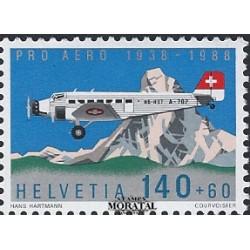 1988 Switzerland Sc B541 Pro Aero Foundation, Zurich, 50th Anniv  **MNH Very Nice, Mint Never Hinged?  (Scott)