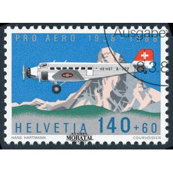 1988 Switzerland Sc B541 Pro Aero Foundation, Zurich, 50th Anniv  (o) Used, Nice  (Scott)