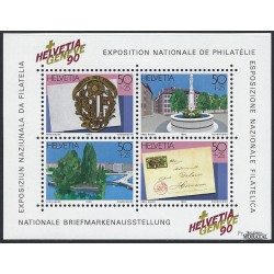 1990 Switzerland Sc B563 Matl Philatelic Exhibition, Geneva'90  **MNH Very Nice, Mint Never Hinged?  (Scott)
