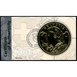 2013 Switzerland Sc 1499 Numismatics. Le vreneli  (o) Used, Nice  (Scott)