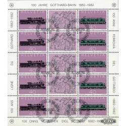 1982 Switzerland Sc 708/709 Gotthard Railway Centenary  (o) Used, Nice  (Scott)