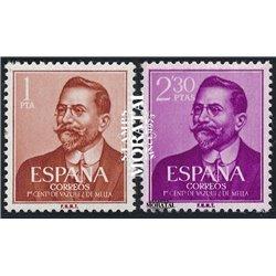 1961 Espagne 1024/1025  Vázquez de Mella  **MNH TTB Très Beau  (Yvert&Tellier)