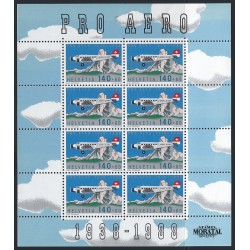 1988 Switzerland Sc B541 Pro Aero Foundation, Zurich, 50th Anniv  (o) Used, Nice  (Scott)