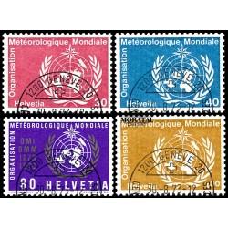 1973 Switzerland Sc 0 Meteorological Organization  (o) Used, Nice  (Scott)