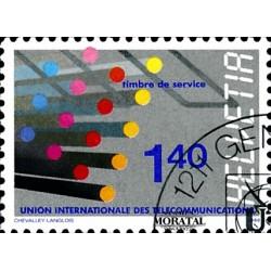 1988 Switzerland Sc 0 U.I.T.  (o) Used, Nice  (Scott)