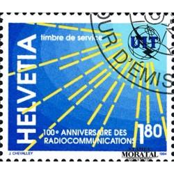 1994 Switzerland Sc 0 100º Radiocommunications  (o) Used, Nice  (Scott)