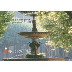 2000 Switzerland Sc Booklet Pro Patria 00  (o) Used, Nice  (Scott)