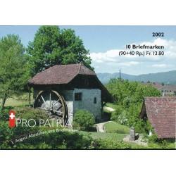 2002 Switzerland Sc Booklet Pro Patria 02  (o) Used, Nice  (Scott)