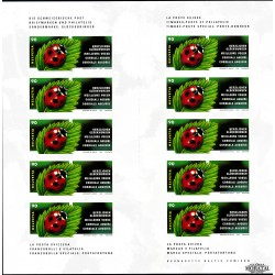 2002 Switzerland Sc 1125a Ladybug - Booklet  **MNH Very Nice, Mint Never Hinged?  (Scott)