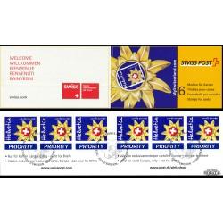 2002 Switzerland Sc 1135a Emblem Switzerland Tourism - Boklet  (o) Used, Nice  (Scott)