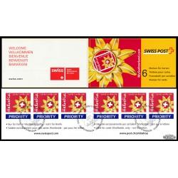 2002 Switzerland Sc 1136a Emblem Switzerland Tourism - Boklet  (o) Used, Nice  (Scott)