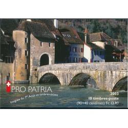 2003 Switzerland Sc Booklet Pro Patria 03  (o) Used, Nice  (Scott)