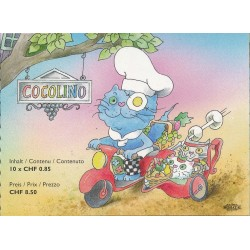 2006 Switzerland Sc 1249a Cocolino the Cooking Cat - Booklet  (o) Used, Nice  (Scott)