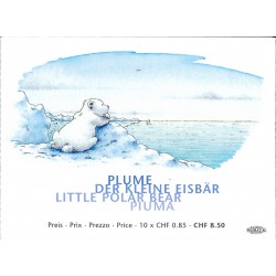 2008 Switzerland Sc 1297a The Little Polar Bear - Booklet  (o) Used, Nice  (Scott)
