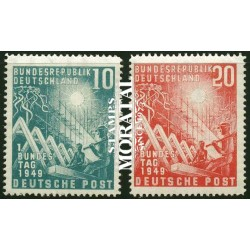 1949 Germany BRD Sc 665/666 Deutschen Bundestag  (o) Used, Nice  (Scott)