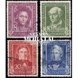 1949 Germany BRD Sc B310/B313 Welfare Organizations  (o) Used, Nice  (Scott)