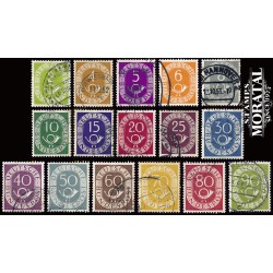 1951 Germany BRD Sc 670/685 Post Hoorn  (o) Used, Nice  (Scott)