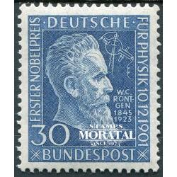 1951 Germany BRD Sc 686 Wilhelm Röntgen  **MNH Very Nice, Mint Never Hinged?  (Scott)