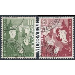 1952 Germany BRD Sc B325/B326 Works for Youth  (o) Used, Nice  (Scott)