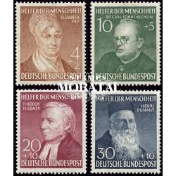 1952 Germany BRD Sc B327/B330 Welfare Organizations  *MH Nice, Mint Hinged  (Scott)