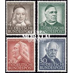 1953 Germany BRD Sc B334/B337 Welfare Organizations  *MH Nice, Mint Hinged  (Scott)