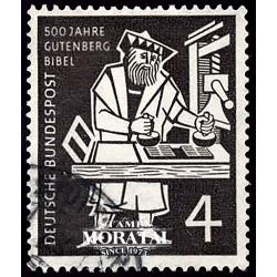 1954 Germany BRD Sc 723 Gutenberg Bible  (o) Used, Nice  (Scott)