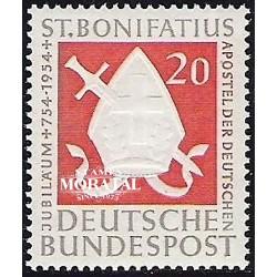 1954 Germany BRD Sc 724 San Bonifacio  **MNH Very Nice, Mint Never Hinged?  (Scott)