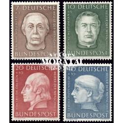 1954 Germany BRD Sc B338/B341 Welfare Organizations  *MH Nice, Mint Hinged  (Scott)