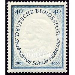1955 Germany BRD Sc 727 Fiedrich Von Schiller  *MH Nice, Mint Hinged  (Scott)