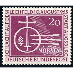 1955 Germany BRD Sc 732 Battle of Lechfeld  *MH Nice, Mint Hinged  (Scott)
