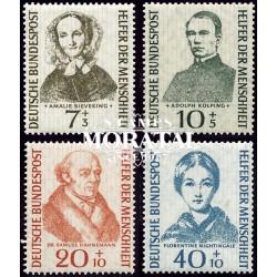 1955 Germany BRD Sc B344/B347 Welfare Organizations  *MH Nice, Mint Hinged  (Scott)