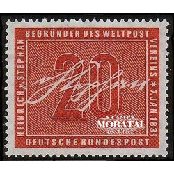 1956 Germany BRD Sc 738 Heinrich Von Stephan  *MH Nice, Mint Hinged  (Scott)