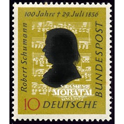 1956 Germany BRD Sc 743 Robert Schumann  **MNH Very Nice, Mint Never Hinged?  (Scott)