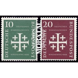 1956 Germany BRD Sc 744/745 Evangelical Church  **MNH Very Nice, Mint Never Hinged?  (Scott)