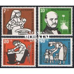1956 Germany BRD Sc B350/B353 Welfare Organizations  *MH Nice, Mint Hinged  (Scott)