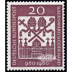 1960 Alemania RFA Yv 209 San Bernardo  **MNH Perfecto Estado, Nuevo Sin Charnela  (Yvert&Tellier)