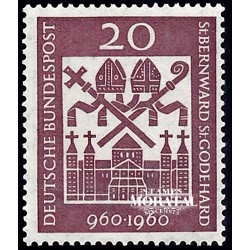 1960 Germany BRD Sc 817 San Bernardo  **MNH Very Nice, Mint Never Hinged?  (Scott)