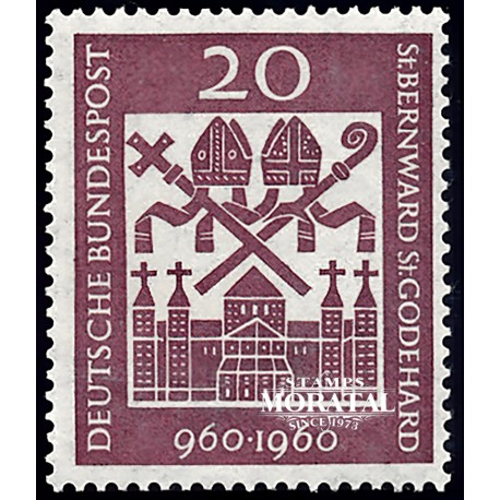 1960 Germany BRD Sc 817 San Bernardo  **MNH Very Nice, Mint Never Hinged?  (Scott)