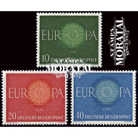1960 Germany BRD Sc 818/820 Europe '60  *MH Nice, Mint Hinged  (Scott)