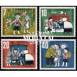 1960 Alemania RFA Yv 213/216 Caperucita Roja  **MNH Perfecto Estado, Nuevo Sin Charnela  (Yvert&Tellier)