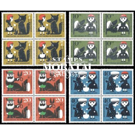 1960 Germany BRD Sc B372/B375 Welfare Organizations  *MH Nice, Mint Hinged  (Scott)