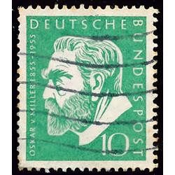 1955 Germany BRD Sc 726 Oskar Von Miller  (o) Used, Nice  (Scott)