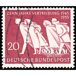 1955 Germany BRD Sc 733 Exile refugees from the East  (o) Used, Nice  (Scott)