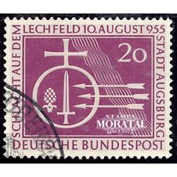 1955 Germany BRD Sc 732 Battle of Lechfeld  (o) Used, Nice  (Scott)