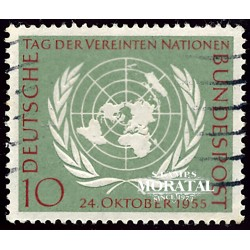 1955 Germany BRD Sc 736 United Nations day  (o) Used, Nice  (Scott)