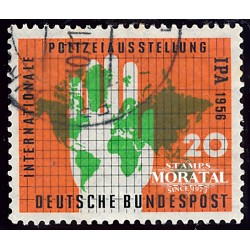 1956 Germany BRD Sc 751 Police exhibition  (o) Used, Nice  (Scott)