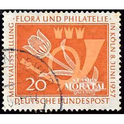 1957 Germany BRD Sc 764 Flora and Philately  (o) Used, Nice  (Scott)