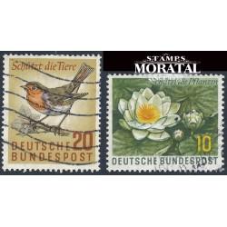 1957 Germany BRD Sc 773/774 Flora and Fauna  (o) Used, Nice  (Scott)